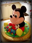 Mickey Mouse cake by EmbracerOfLife
