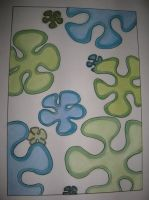 Organic shape design (soft pastel and thin marker) by LeaveItToLeah123