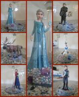 Character Glasses: Frozen by amandas-crafts