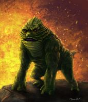 The Gorilla Toad of the Black Lagoon by thesadpencil