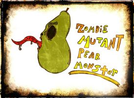 Zombie Mutant Pear Monster by damonx99