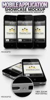 Mobile Application Showcase Mockup by idesignstudio