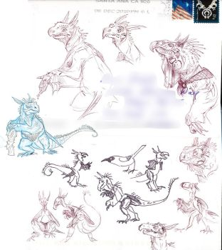 Wyverns Sketches2 by FablePaint