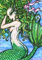 Bella - Preening Mermaid ACEO by alyssakay