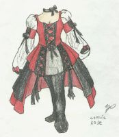 Gothic Rose Dress by ShiningamiMaxwell