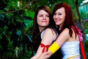 Tifa and Yuna best friends by kairi-costumes