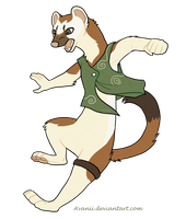 Commission: Sterlyn the Stoat by Avanii