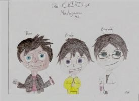 Chibis of Madagascar (Re-made) by RicoFan13