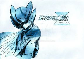 Megaman Zero Pen and Cool Blue Texture by XionsMist