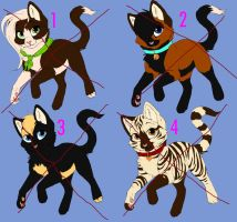 CLOSED: Free Kitten Adoptables by BrunetteMaximumRide