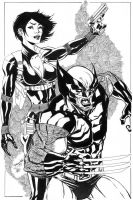 X-Force Wolverine n Domino by thejeremydale