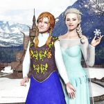 Anna and Elsa by ScottLivingston