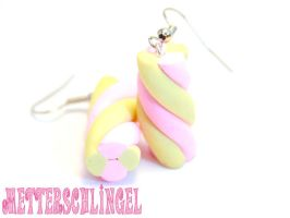 Marshmallow Earrings by Metterschlingel
