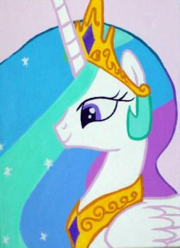 princess celestia canvas painting by LightningChaser
