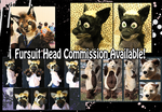 Fursuit Head Commission Available! by BlueWolfCheetah