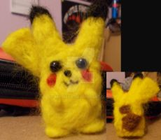 Needle Felted Pikachu by Madisya