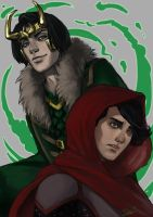 Looming Loki by rosythorns