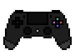 PS4 Controller - Pixel art by amaniness
