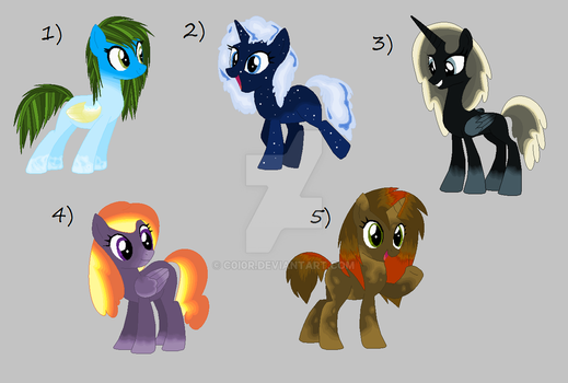 Picture Pony Adoptables OPEN by C0I0R