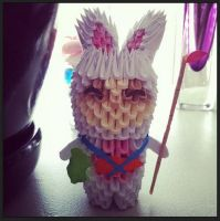 3D Origami: Cottontail Teemo (League of Legends) by inyeon