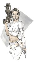 Padme has a big damn gun by Alex0wens