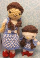 Dorothy and Wizard of Oz Hello Kitty Amigurumi by Spudsstitches