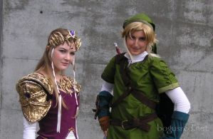 Cosplay Link - with Zelda by BogusRed