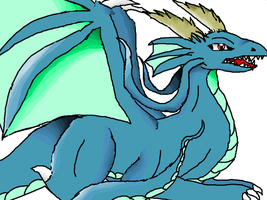 I said, blue dragon SHADED and HIGHLIGTED. by xXDodem-DemonicXx