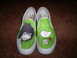 L shoes - Lime green version. by AruTamashi