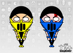 Scorpion and Sub-Zero (Qd and DV) by 53xy83457