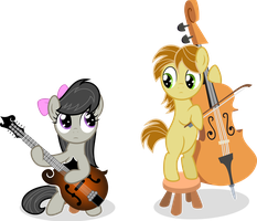 Music Lesson 1 - Vector (Octavia and MandoPony) by Agamnentzar