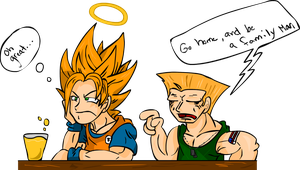 Guile says be a family man. by Uzura-Edge