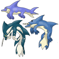 Dolphins for RayquazaMaster by garbagekeeper