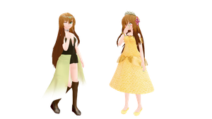 MMD Newcomers, royal attire Shanna by ShannaHeart