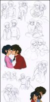 Ranma x Akane Sketchdump by Tell-Me-Lies