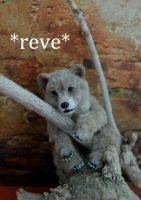 Miniature Bear Sculpture by ReveMiniatures