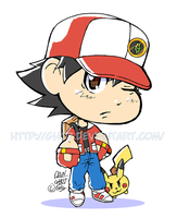 PKMN Trainer Red Chibi by gh07