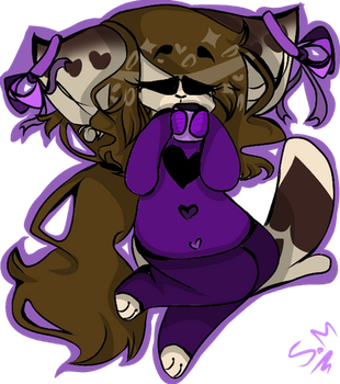 (me/my fursona) Its the purple time by Lystin