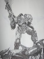 Terran Marine from Starcraft 2 by Lordmarshal