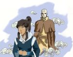 Korra and Aang by Grubbins-LoK