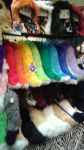 Some of the tails at our booth at Cosplacon by OurMassHysteria