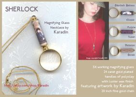 Sherlock Magnifying Glass Necklace by karadin