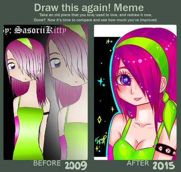 Draw this again: Lollipop Girl / 2009-2015 by IgnaciaH