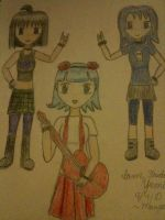 3 Gothic and Punk chicks by mango-chan88