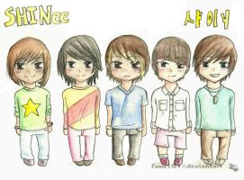 SHINee Chibis by furu101