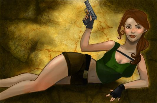 Lara Croft by NuttyLamb