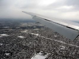 Landing in Chicago by sicklittlemonkey