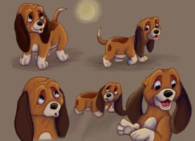 Disney Sketches - Young Copper by NostalgicChills