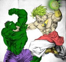 Broly vs Hulk by dude6667