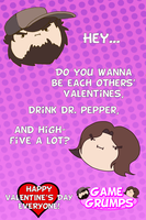 Game Grumps Valentine's Cards - High Five A Lot by Trusty-Sidekick